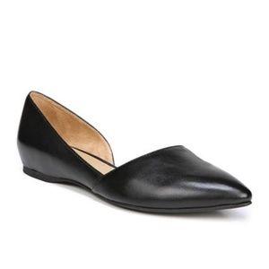 Naturalizer Tamara d'Orsay Black Leather Flat